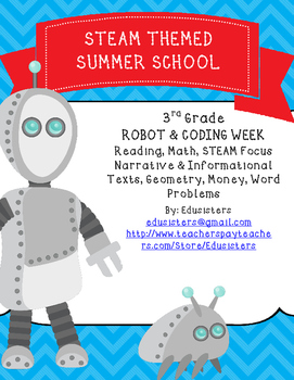 Summer School STEM Robots and Coding Week Long Activity Pack