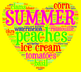 Summer Seasonal Ingredients Food Poster/Clip Art for Decor