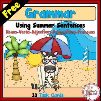 Grammar using Summer Sentences