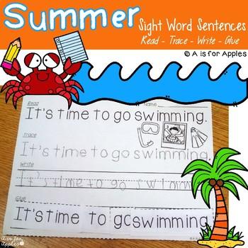 Summer Sentences {Read-Trace-Write-Glue}