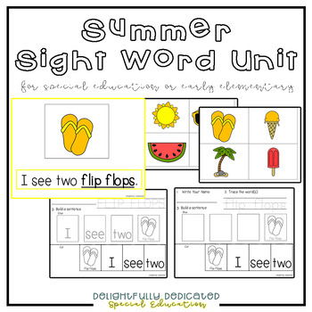 Summer Sight-Word Unit: Early Elementary & Special Ed