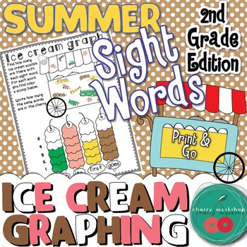 Summer Sight Words {Ice cream graphing} Second Grade Editi