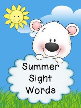 Summer Sight Words - Literacy Center