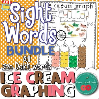 Summer Sight Words No Prep {Ice cream graphing} Dolch BUND