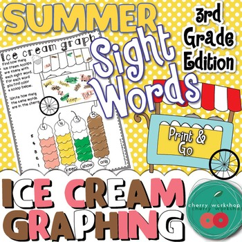 Summer Sight Words No Prep {Ice cream graphing} Third Grad
