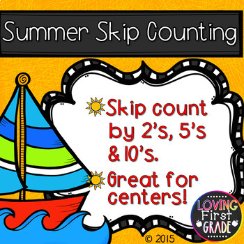 Summer Skip Counting 2's, 5's, & 10's