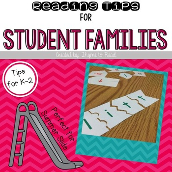 Parent Conference Reading Tips {FREEBIE}