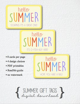 Hello Summer Gift Tags