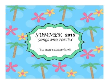 Summer Songs and Poetry 2015