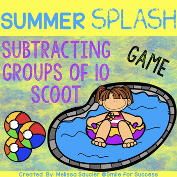 Summer Splash SCOOT {Subtracting with Groups of 10}