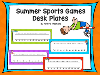Summer Sports Desk Plates