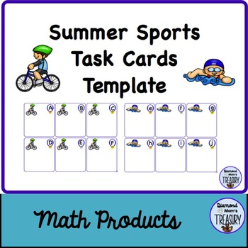 Summer Sports Task Cards Template
