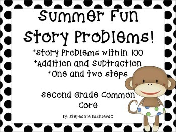 Summer Story Problems (2nd Grade, Within 100, One and Two