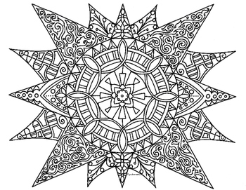 Summer Sun Zentangle Coloring Page