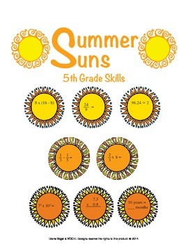 5th Grade Common Core Math - Summer Suns