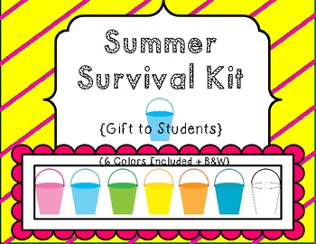 Summer Survival Kit {End-of-Year Student Gift} Printable