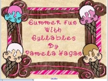 Summer Syllable Fun- SmartBoard