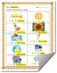 Summer-Themed Syllables Count Worksheet