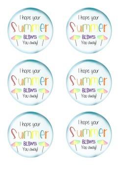 Summer Tags - End of school year printables - School - Bub