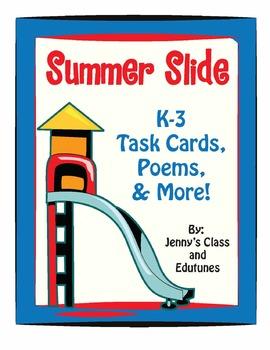 Summertime: Task Cards & Good-Bye Poems for Students Leavi