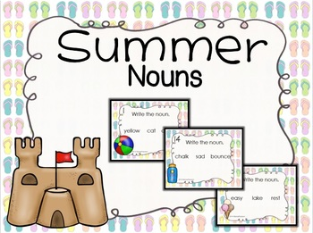 NOUNS: Summer Task Cards- NOUNS