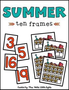 Summer Ten Frames