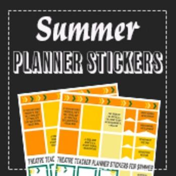 Summer Theatre Planner Stickers