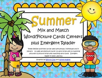SUMMER Mix and Match Vocabulary Cards