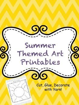 Sping & Summer Themed Art Printables-Fine Motor Skill Building