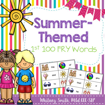 Summer-Themed First 100 Fry Words