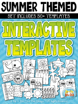 Summer Themed Flippable Interactive Templates Set — Includ
