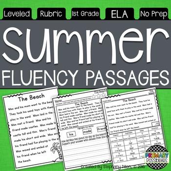 Summer Themed Fluency Passages