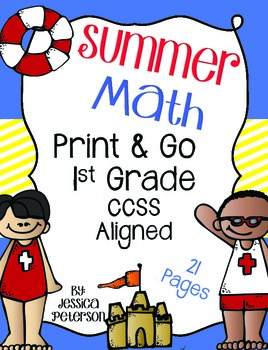 Summer Themed Math {Print & Go} 1st Grade