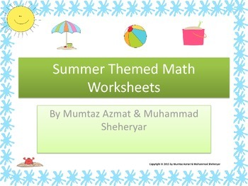 Summer Themed Math Worksheets (Colored):