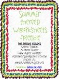 Summer Themed Worksheets FREEBIE!