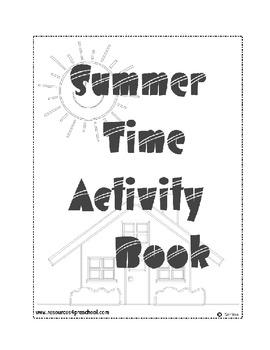 Summer Time Activity Book - Preschool to Kindergarten Tran