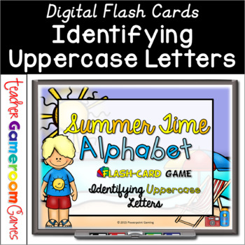Summer Time Alphabet Flash Card Set