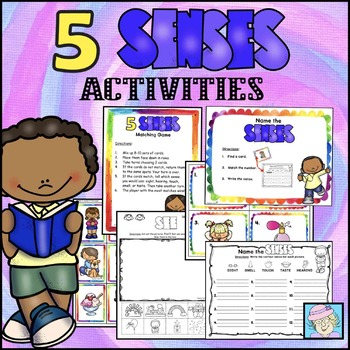 Summer Time Five Senses Matching Game