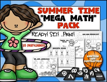 Summer Time Math Mega Pack {Ready! Set! Print!} Kindergart