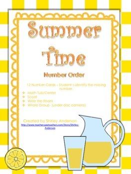 Summer Time- Number Order to 20