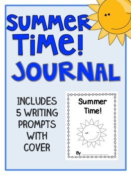 Summer Time Writing Journal with 5 Writing Prompts