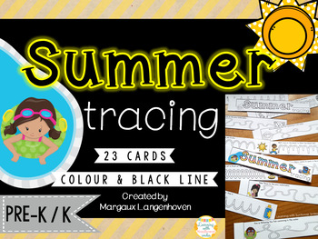 Summer Tracing and Vocabulary Booklet