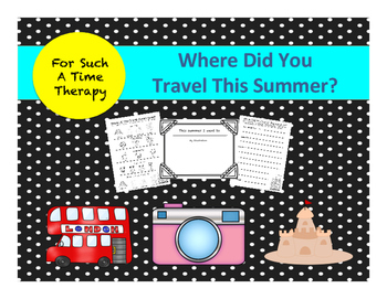 Summer Vacation Leveled Writing Project
