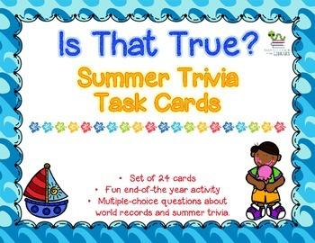Summer Trivia Task Cards