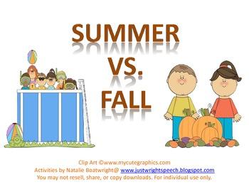 Summer VS Fall - Freebie