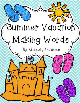 Summer Vacation - Making Words Activity