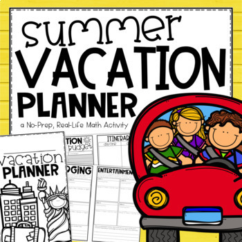 Summer Vacation Planner {An End of Year Activity}