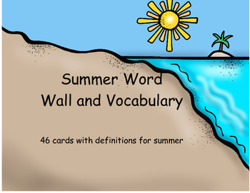Summer Vocabulary Cards/Word Wall Cards
