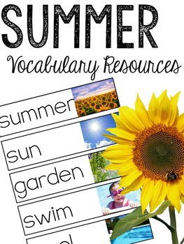 Summer Vocabulary Resources