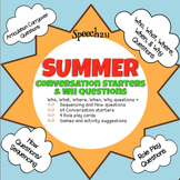 Summer WH Questions and Conversation Starters, Fluency, Ar